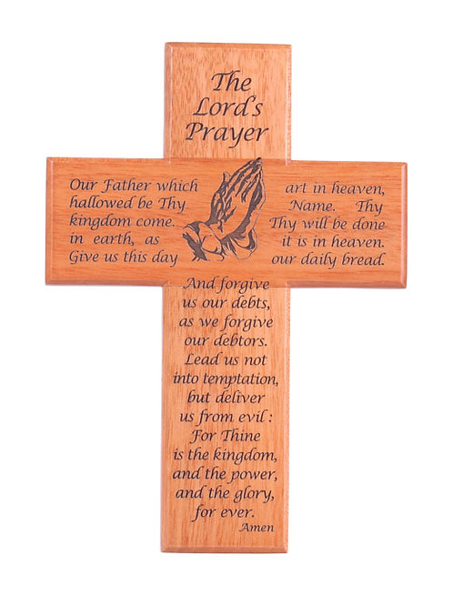 CROSS LORDS PRAYER CEP1-150 Brown Light