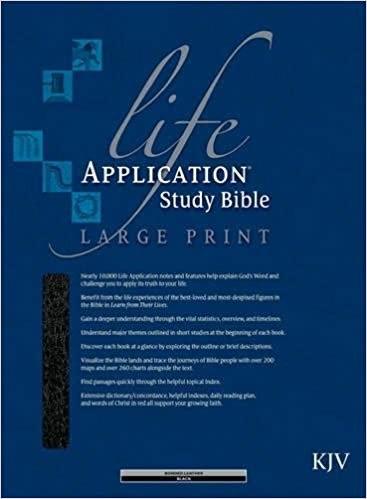 BIBLE KJV LASB LARGE 865 BLACK BONDED RL 11.5 PT