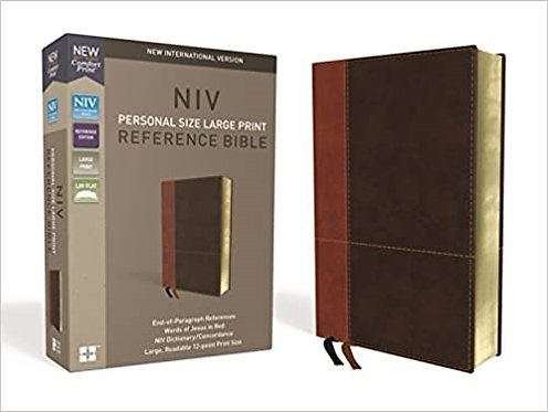 NIV PERSONAL REF LARGE BROWN LEATHERSOFT RL 12 PT