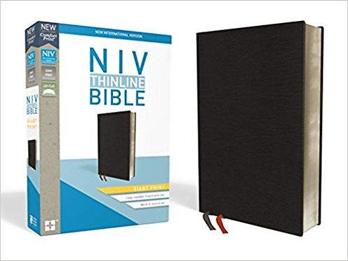 NIV THINLINE GIANT 594 BIBLE BLACK BONDED 13 PT RL