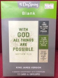 CARD BOX BLANK 20350 WORDS KJV