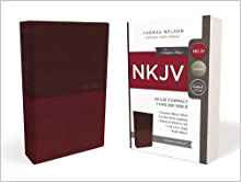 NKJV VALUE THINLINE COMPACT 538 BURGUNDY LEATHERSOFT RED LETTER 6.5