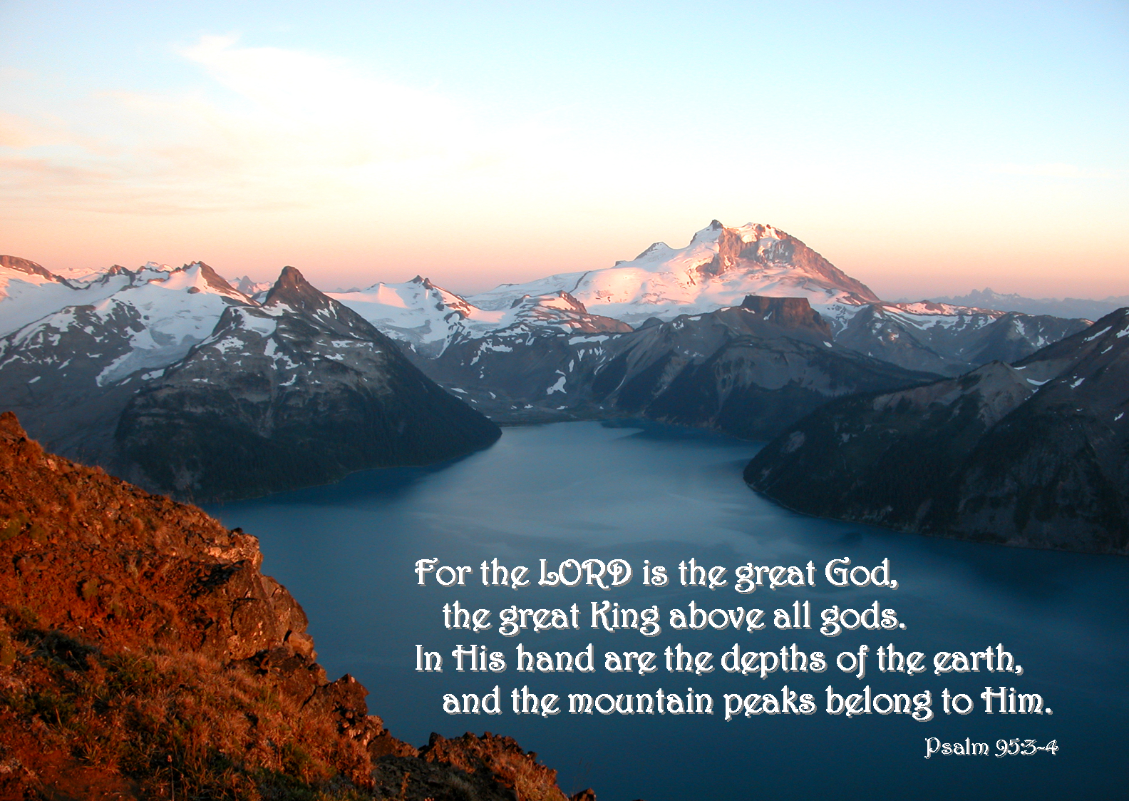 10 October - Mountain, Red (Psalm 95-3).png
