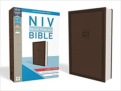 NIV BIBLE - VALUE THINLINE LARGE 532 CHOCOLATE LEATHERSOFT
