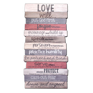 Plaque Wall Love Stacked 45029