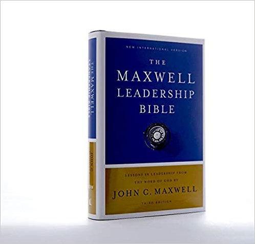 BIBLE NIV MAXWELL LEADERSHIP 016 Hard Cover 3rd Ed 9.3 PT