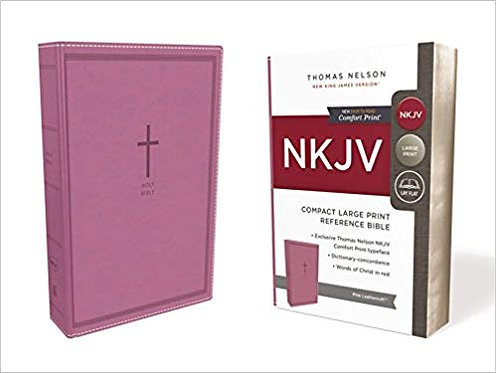 NKJV COMPACT LARGE REF 503 BIBLE PINK LEATHERSOFT 8.5 P RL