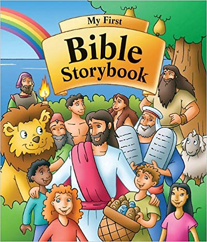 MY FIRST BIBLE STORYBOOK - MICHAEL BURGHOF (HARDCOVER, 292)