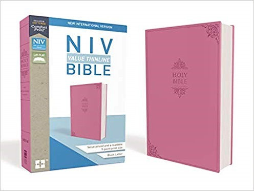 BIBLE NIV VALUE THINLINE 495 Pink Leathersoft 9.4 PT