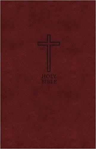 KJV Value Thinline Large Font Bible 056 Burgundy Leathersoft
