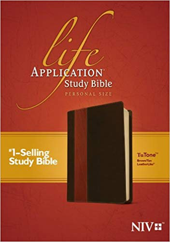 BIBLE NIV LIFE 823 APPLICATION STUDY PERSONAL Brown Leatherlike 7.5 PT