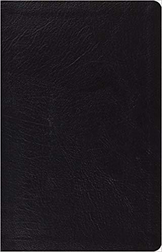BIBLE ESV THINLINE LARGE Font 795 Black Genuine Leather