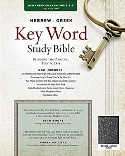 NASB HEBREW GREEK KEY WORD INDEX BLACK BONDED CEN CLMN RL 10.5