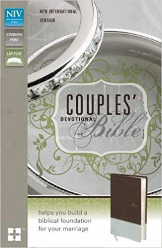 NIV Couples Devotional 168 BIble Brown Italian