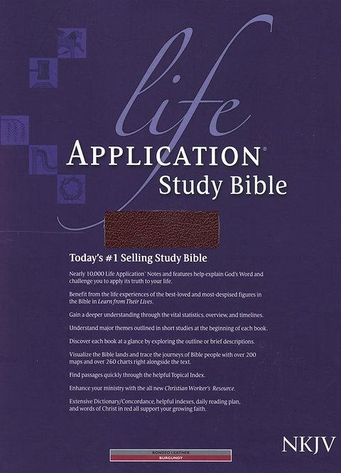 NKJV Life Application Study Bible Bonded leather
