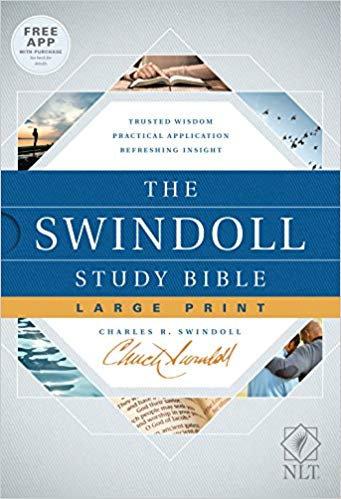 BIBLE NLT SWINDOLL STUDY LARGE Font 688 Hard Cover 10 PT