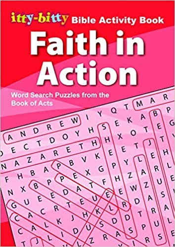 IttyBitty Activity Book Faith in Action, Word Search - Pack of 6