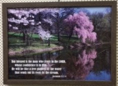 FRAME A3  BLESSED IS THE MAN 851 JEREMIAH 17 : 7 8 30 CM X 42 CM  EEE