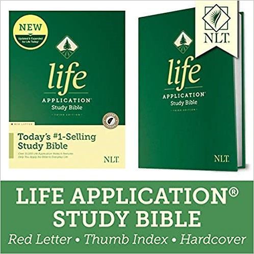 BIBLE NLT LASB INDEX 024 HC 8.5 PT RL 3RD ED