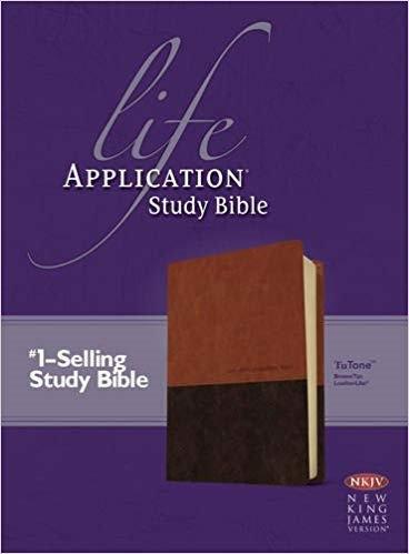 BIBLE NKJV LIFE 053 APPLICATION STUDY INDEX Brown Leatherlike  9 PT