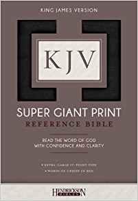 KJV SUPER GIANT REF 690 BIBLE BLACK IMITATION 17 PT RL