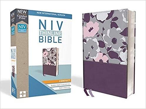 BIBLE NIV COMPACT THINLINE PURPLE LEATHERSOFT
