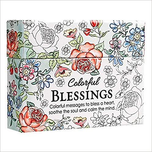 Adult Color Card Colorful Blessings