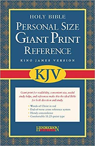 KJV PERSONAL GIANT REF BURGUNDY BONDED 11.25 PT RL