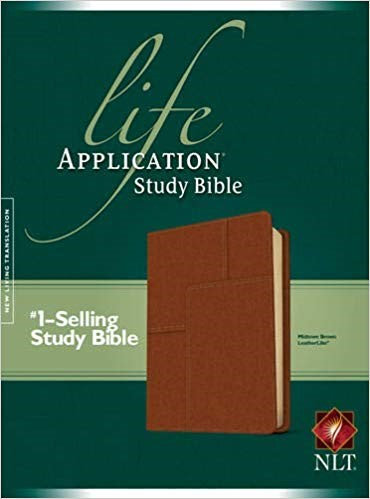 BIBLE NLT LIFE 488 APPLICATION STUDY Brown Leatherlike 8.75 PT