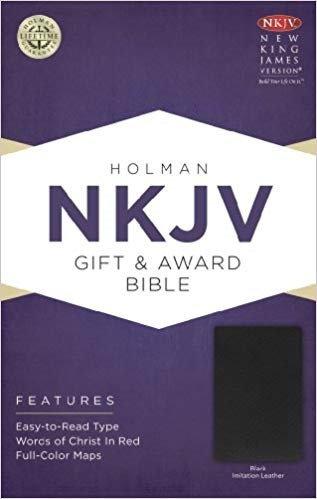 BIBLE NKJV GIFT & AWARD 621 Black Imitation 7 PT