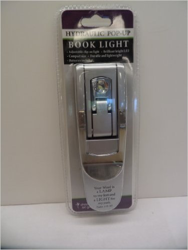 BOOK LIGHT SILVER HYDRAULIC POP UP CLIP ON