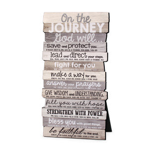 Plaque Table Journey Stacked 45024