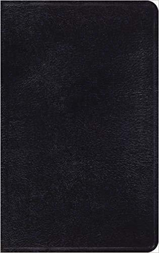 BIBLE ESV THINLINE 774 Black Genuine 8 PT