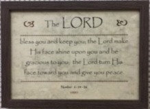 FRAME A4 LORD BLESS YOU 912 NUMBER 6 : 24 -26 24 CM X 33 CM PLAIN