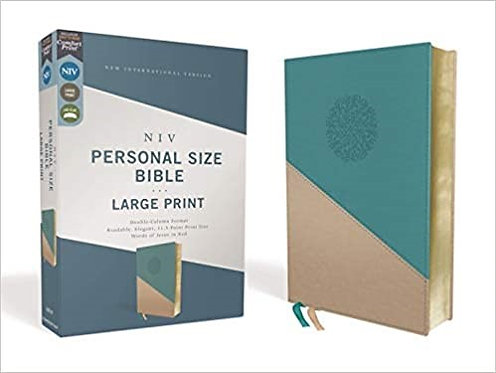NIV PERSONAL LARGE Font 281 GREEN GOLD LEATHERSOFT RL 12 PT
