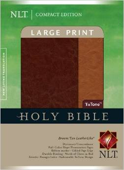 NLT Compact 593 Large Print Index Brown