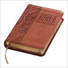 KJV MINI POCKET  BROWN LEATHER LOOK
