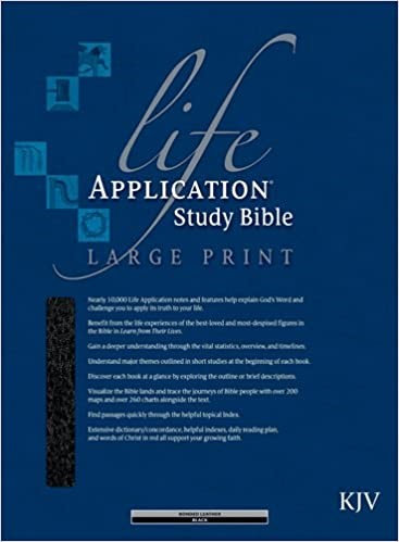 BIBLE KJV LIFE APPLICATION LARGE INDEX 872 BLACK BONDED 11.5 PT RL
