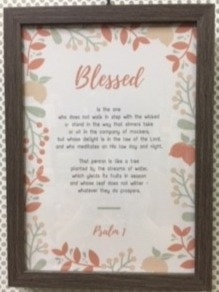 FRAME A4 BLESSED IS THE ONE 783 PSALM 1  24 CM X 33 CM