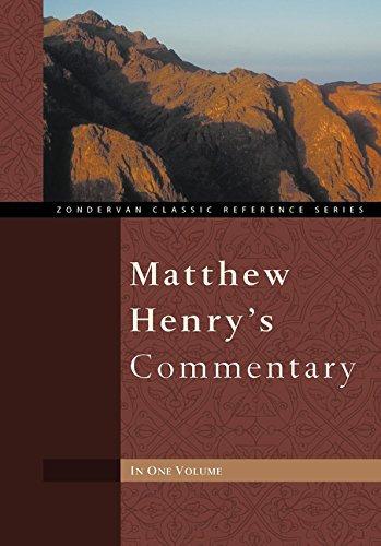 Matthew Henry's Commentary One Volume - Matthew Henry