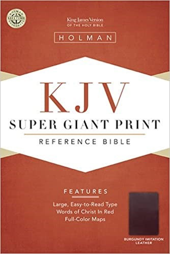 BIBLE KJV SUPER GIANT 384 BURGUNDY IMITATION 18 PT RL