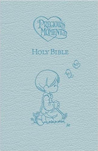 BIBLE ICB PRECIOUS MOMENTS  BLUE LEATHERSOFT AGE 7 UP CHILDREN