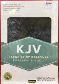 KJV LARGE PERSONAL CHARCOAL LEATHERTOUCH RL 12 PT REF