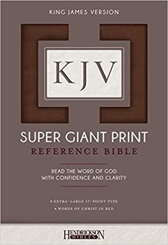 KJV SUPER GIANT REF BROWN FLEXISOFT 17 PT RL 09713