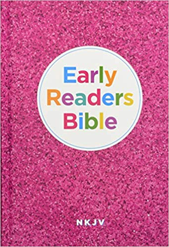 BIBLE CHILDREN NKJV 115 EARLY READERS Hard Cover Age 7 - 10 Pink