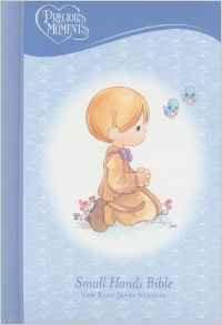 NKJV Precious Moments Bible Blue HC 192 Small Hands