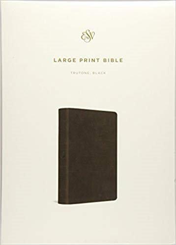 BIBLE ESV LARGE PRINT 789 Black Imitation Trutone 11 PT
