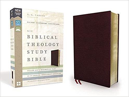 NIV BIBLICAL THEOLOGY STUDY 559 BURGUNDY BONDED LEATHER