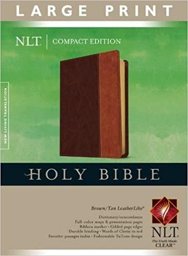 BIBLE NLT COMPACT LARGE Font 583 Brown Leatherlike 8.75 PT RL