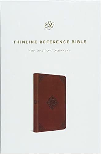 BIBLE ESV THINLINE REF 767 BROWN TRUTONE 8 POINT PT